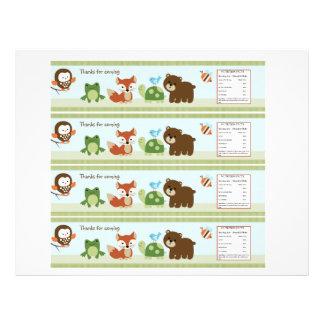 Etiquetas animales de la botella de agua de los am tarjetas publicitarias