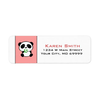 Etiquetas animales del remite del oso de panda etiqueta de remite