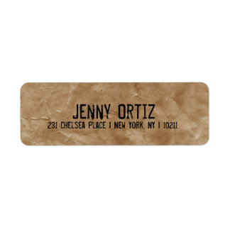 Etiquetas apenadas del remite del papel de Kraft Etiqueta De Remite