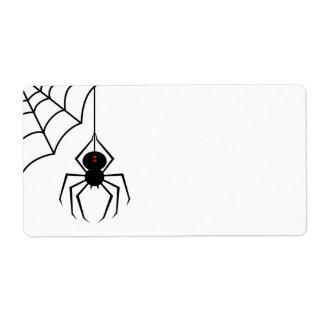 Etiquetas asustadizas de la araña etiquetas de envío