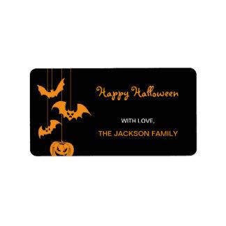 Etiquetas asustadizas del regalo de Halloween de l Etiquetas De Dirección