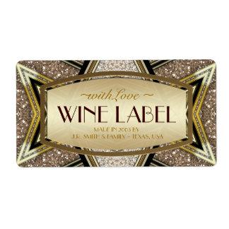 Etiquetas atractivas del vino del art déco del etiqueta de envío