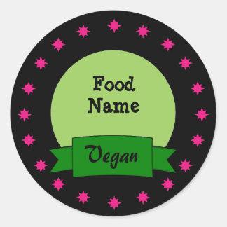 Etiquetas autoadhesivas de encargo de la comida - pegatina redonda