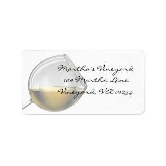 Etiquetas autoadhesivas de la dirección del vino b etiquetas de dirección