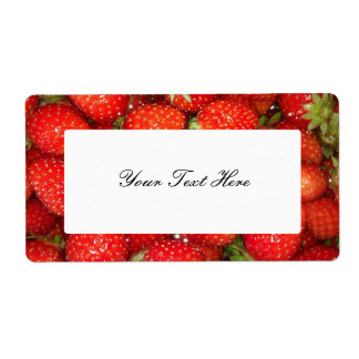 Etiquetas autoadhesivas de la mermelada de fresa etiquetas de envío