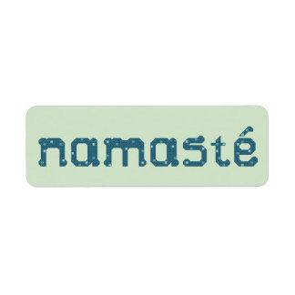 Etiquetas autoadhesivas de Namaste Etiqueta De Remite