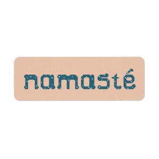 Etiquetas autoadhesivas de Namaste Etiquetas De Remite