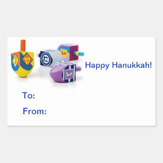 Etiquetas autoadhesivas felices del regalo de pegatina rectangular