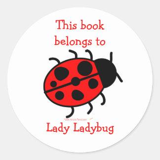 Etiquetas autoadhesivas lindas del Bookplate de la Pegatina Redonda