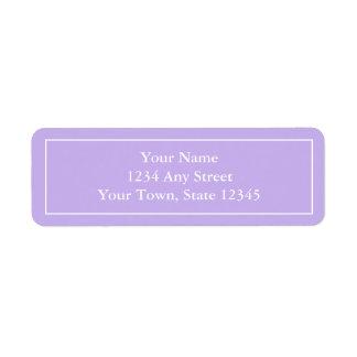 etiquetas autoadhesivas púrpuras Pre-impresas del  Etiqueta De Remitente
