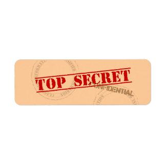 Etiquetas autoadhesivas secretísimas de la etiqueta de remitente
