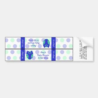 Etiquetas azules de la botella de agua del búho pe pegatina para auto