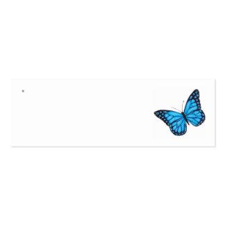 Etiquetas azules del favor del boda de la mariposa plantillas de tarjetas de visita