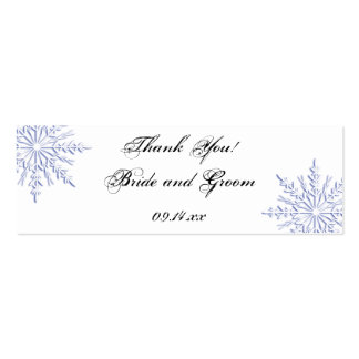 Etiquetas azules del favor del boda del copo de ni tarjeta de visita