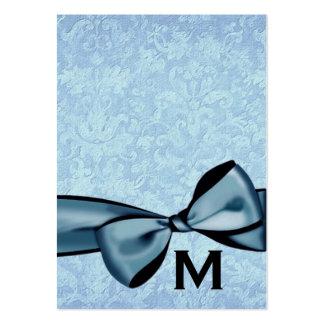 Etiquetas AZULES del regalo de boda del damasco o Tarjetas De Visita Grandes