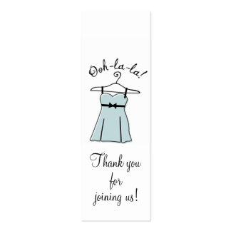 Etiquetas azules del regalo de la ducha de la ropa tarjetas de visita mini