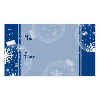 Etiquetas azules del regalo de las decoraciones de tarjetas de visita