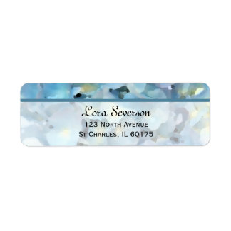 Etiquetas azules del remite del Hydrangea Etiqueta De Remitente