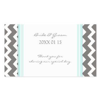 Etiquetas azules grises del favor del boda de Chev Tarjeta De Visita