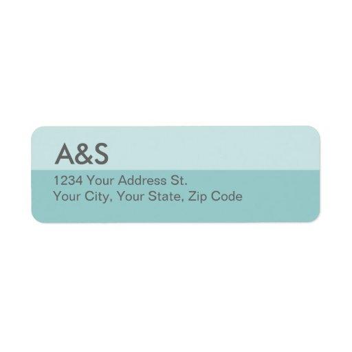 Etiquetas azules modernas del remite etiquetas de remite