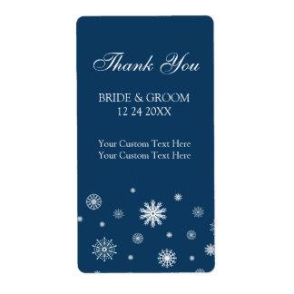 Etiquetas blancas azules del boda del invierno de  etiquetas de envío