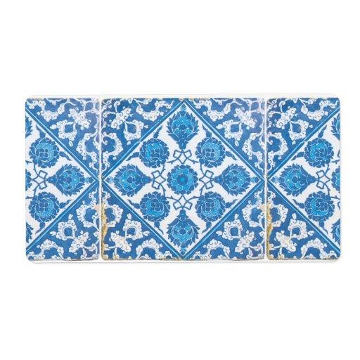 Etiquetas blancas azules del Cornflower de Delft Etiquetas De Envío