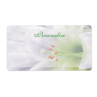 Etiquetas blancas bonitas del lirio de pascua etiquetas de envío