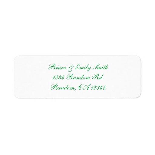 Etiquetas blancas del personalizado de la escritur etiqueta de remitente
