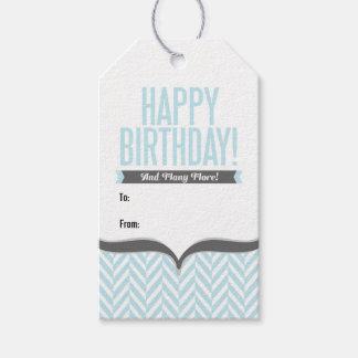 Etiquetas blancas del regalo de cumpleaños de la etiquetas para regalos