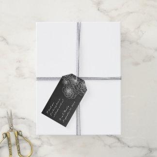 Etiquetas blancas negras del favor del regalo de etiquetas para regalos