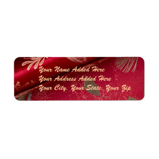 Etiquetas brillantes rojas del remite del papel de etiqueta de remite
