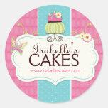 Etiquetas caprichosas de la torta