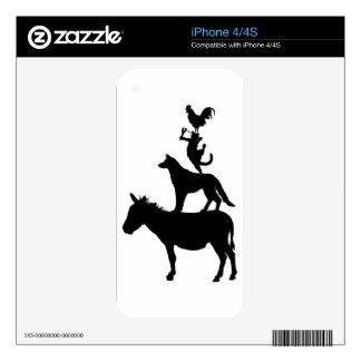 Etiquetas caprichosas de los animales del campo calcomanías para iPhone 4S