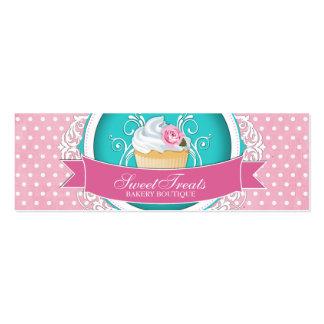 Etiquetas caprichosas y elegantes de la panadería tarjetas de visita mini