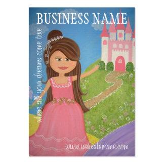 Etiquetas colgantes de princesa Castle y tarjetas  Tarjetas De Visita