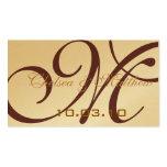 Etiquetas colgantes del favor del boda del monogra plantillas de tarjetas personales