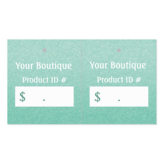 Etiquetas colgantes elegantes simples de las tarjetas de visita