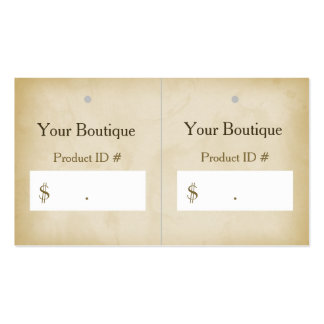 Etiquetas colgantes modernas del boutique del tarjetas de visita