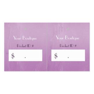 Etiquetas colgantes rosadas elegantes simples de l tarjeta personal