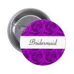 Etiquetas color de rosa púrpuras elegantes del nom pin