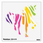 Etiquetas coloridas de la pared del unicornio de l