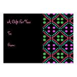 Etiquetas coloridas del regalo de los puntos tarjetas de visita