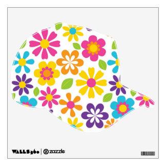 Etiquetas coloridas lindas de la pared del flower