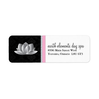 Etiquetas con clase del balneario de Lotus Etiqueta De Remitente