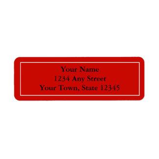 Etiquetas con seña preimpresa rojas de encargo de  etiqueta de remitente