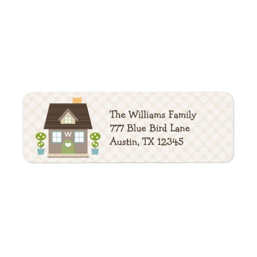 Etiquetas cones monograma del remite de la casa etiquetas de remite