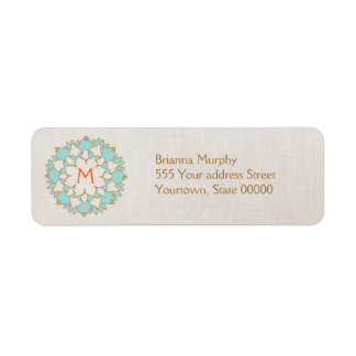 Etiquetas cones monograma del remite de Lotus de l Etiquetas De Remite
