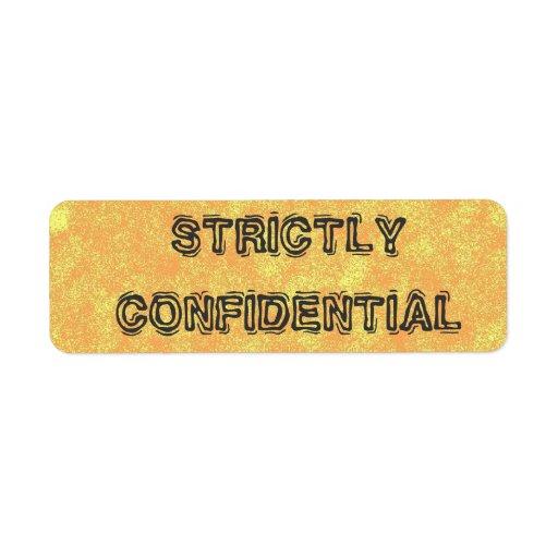 Etiquetas confidenciales secretísimas etiquetas de remite