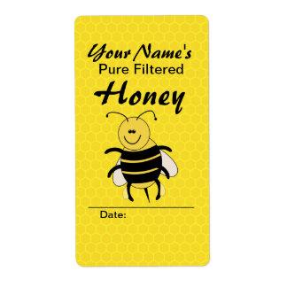 Etiquetas conocidas de encargo de la miel de la etiqueta de envío