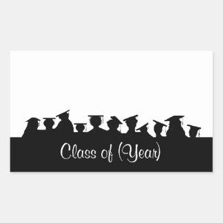 Etiquetas conocidas de la graduación o de la pegatina rectangular